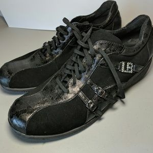 Laura Biagiotti Black Suede & Leather Sneakers 41